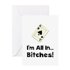Gambling All In Greeting Card