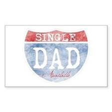 SINGLE DAD AVAILABLE Decal