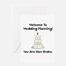 Wedding Broke Greeting Card