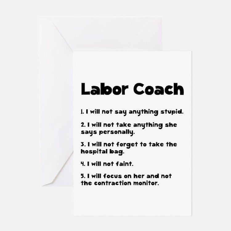Labor Coach Greeting Card