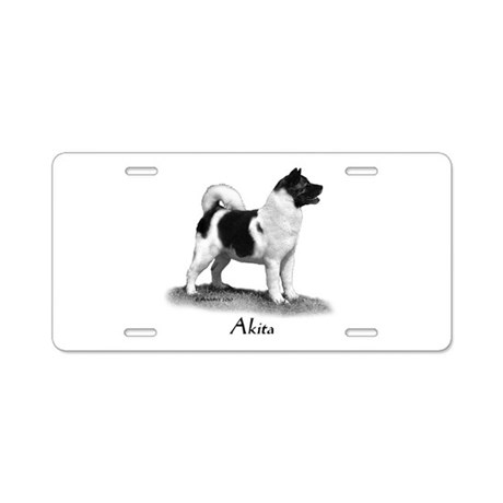 Akita Aluminum License Plate