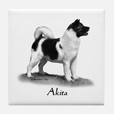 Akita Tile Coaster
