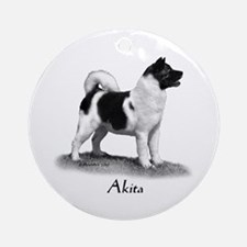 Akita Ornament (Round)