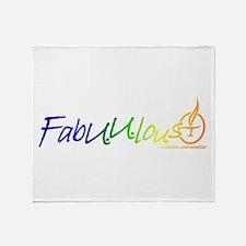 """""""FabUUlous"""" Throw Blanket"""