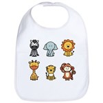 Jungle animals bib