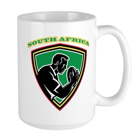 south africa rugby Large Mug