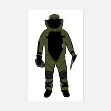 Bomb Suit Sticker (Rectangle)
