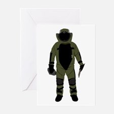 Bomb Suit Greeting Cards (Pk of 20)