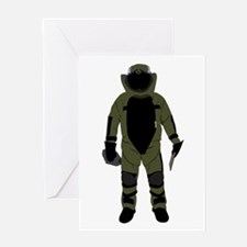 Bomb Suit Greeting Card