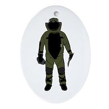 Bomb Suit Ornament (Oval)
