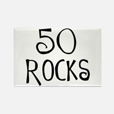 50th birthday saying, 50 rocks! Rectangle Magnet