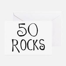 50th birthday saying, 50 rocks! Greeting Cards (Pa