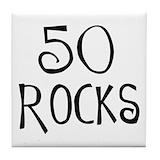50th birthday men Drink Coasters