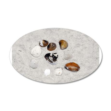 Seashells and Sand 38.5 x 24.5 Oval Wall Peel