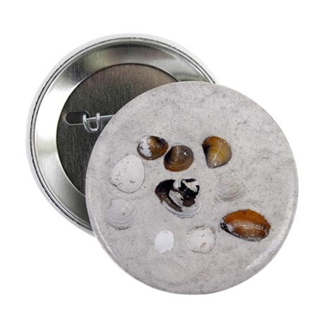 "Seashells and Sand 2.25"" Button"