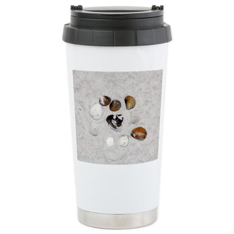 Seashells and Sand Stainless Steel Travel Mug