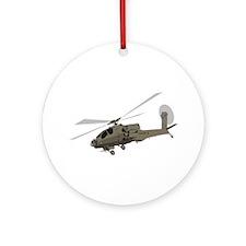 Apache AH-64 Ornament (Round)