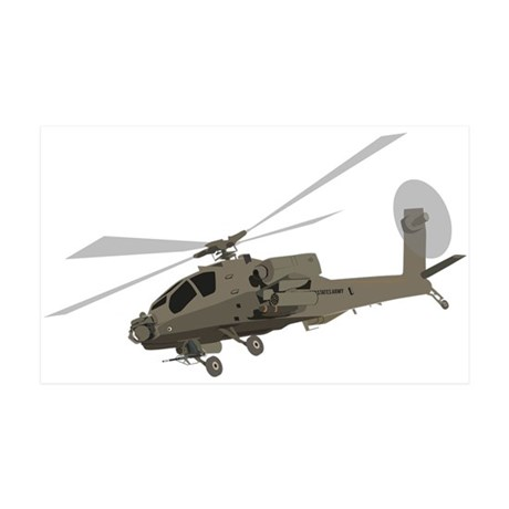 Apache AH-64 35x21 Wall Decal