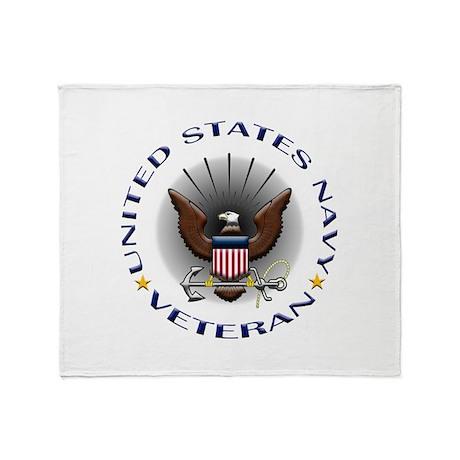 US Navy Veteran Eagle Throw Blanket