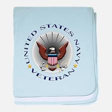 US Navy Veteran Eagle baby blanket