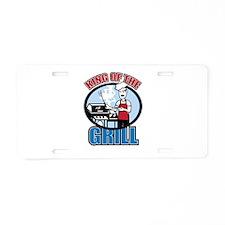 Chef Dad Aluminum License Plate