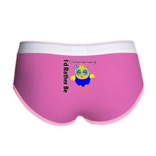 I'd Rather Be Swimming Chick Women's Boy Brief