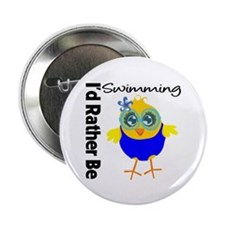 "I'd Rather Be Swimming Chick 2.25"" Button (10 pack"