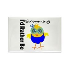 I'd Rather Be Swimming Chick Rectangle Magnet