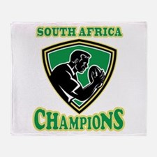 South Africa Champions Throw Blanket