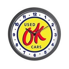 OK Used Cars Wall Clock