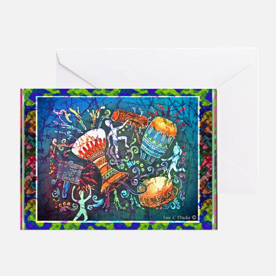 Drums Card Greeting Cards