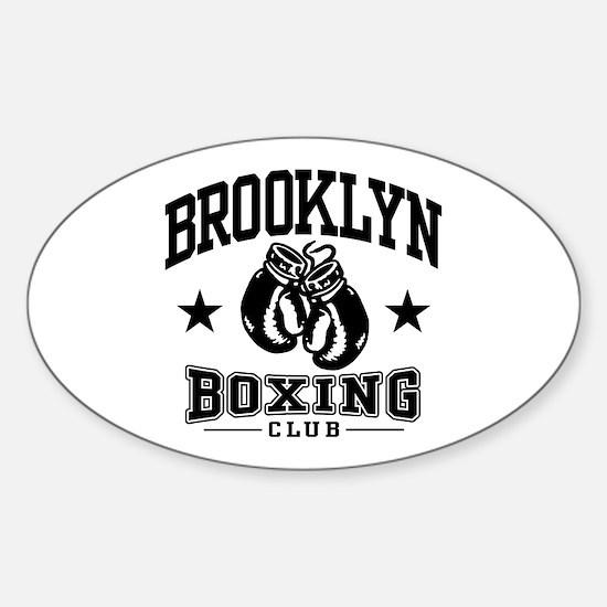 Brooklyn Boxing Sticker (Oval)
