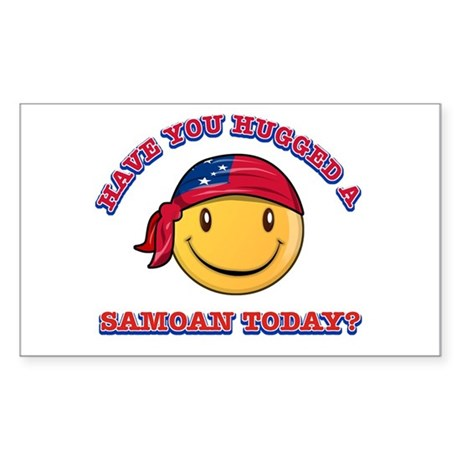 Hugged a Samoan Today? Sticker (Rectangle)