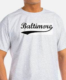Vintage Baltimore Ash Grey T-Shirt