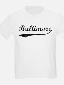 Vintage Baltimore Kids T-Shirt