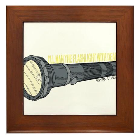 Man'in Dean's Flashlight Framed Tile