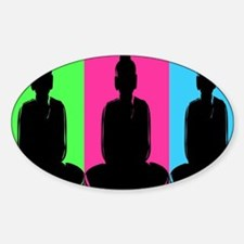 Buddha Warhol Style Decal