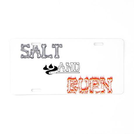 SALT AND BURN Aluminum License Plate
