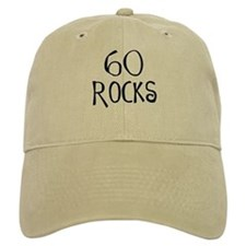 60th birthday saying, 60 rocks! Baseball Cap