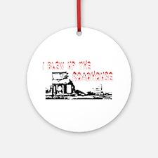 Buh Bye Roadhouse Ornament (Round)