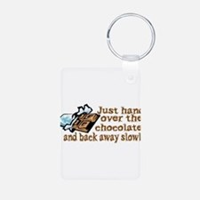 Gimme Chocolate Aluminum Photo Keychain