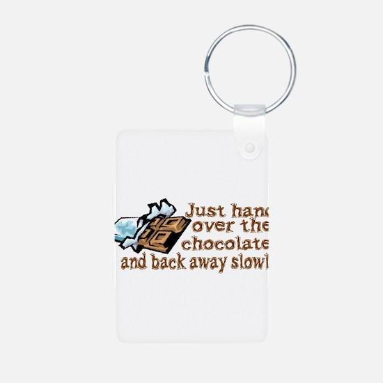 Gimme Chocolate Aluminum Photo Keychain