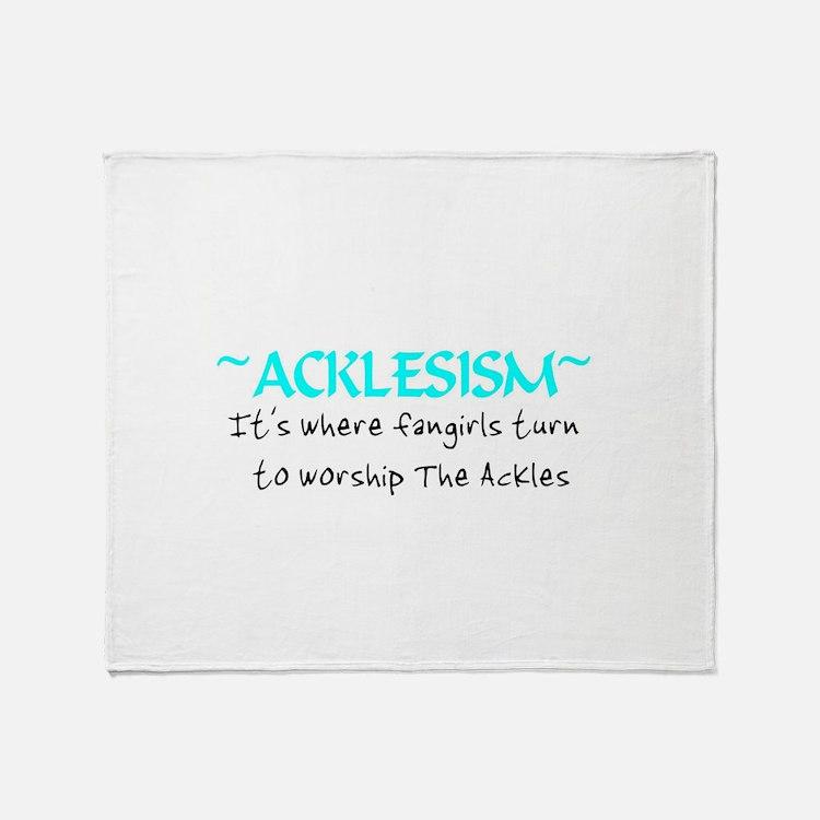 Acklesism Throw Blanket