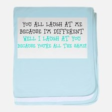 Quote 1 baby blanket