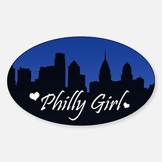 Philly Girl (Skyline) Sticker (Oval)