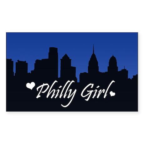 Philly Girl (Skyline) Sticker (Rectangle)
