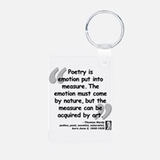 Hardy Emotion Quote Aluminum Photo Keychain
