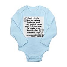 Ginsberg People Quote Long Sleeve Infant Bodysuit