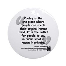 Ginsberg People Quote Ornament (Round)