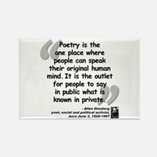 Ginsberg People Quote Rectangle Magnet